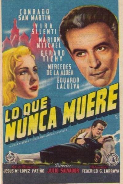 Caratula, cartel, poster o portada de Lo que nunca muere