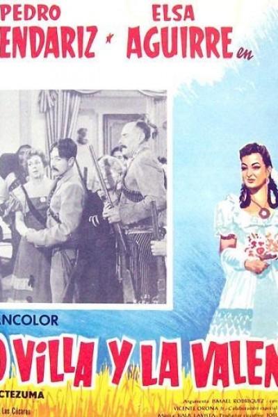 Caratula, cartel, poster o portada de Pancho Villa y la Valentina