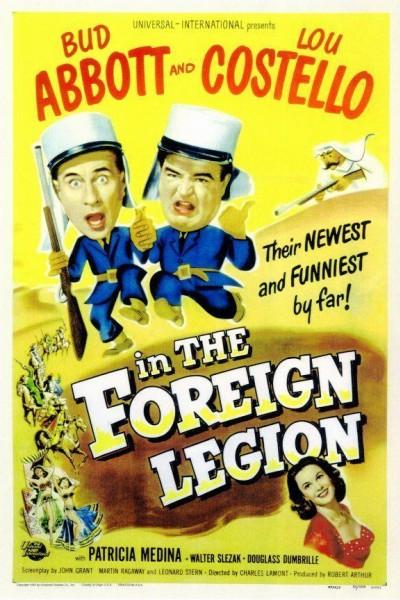 Caratula, cartel, poster o portada de Abbott y Costello en la legión extranjera