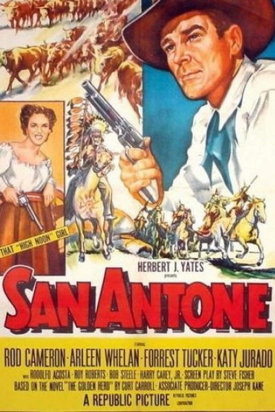 Caratula, cartel, poster o portada de Los rebeldes de San Antonio