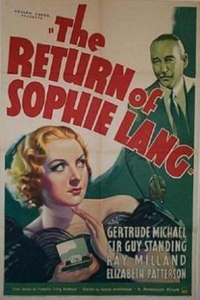 Caratula, cartel, poster o portada de The Return of Sophie Lang