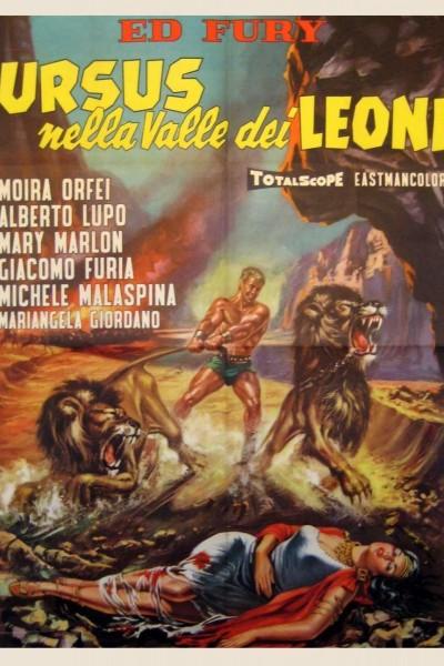 Caratula, cartel, poster o portada de Ursus en el valle de los leones