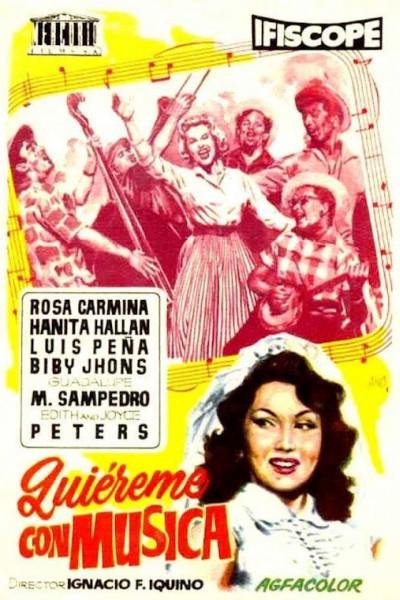 Caratula, cartel, poster o portada de Quiéreme con música