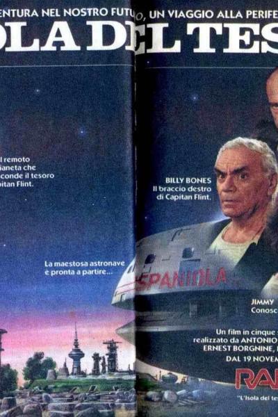 Caratula, cartel, poster o portada de La isla del tesoro en el espacio exterior