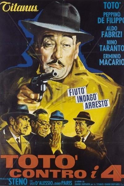 Caratula, cartel, poster o portada de Totó contra los cuatro