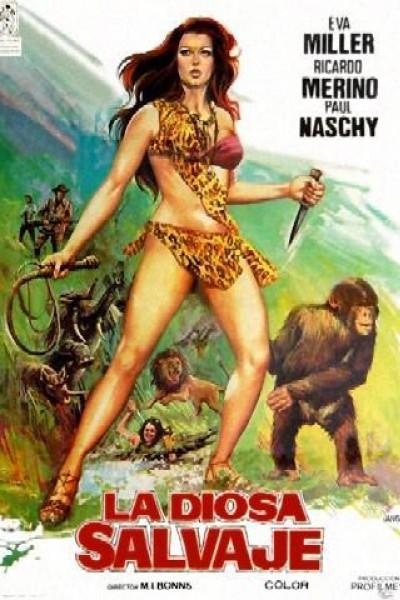 Caratula, cartel, poster o portada de La diosa salvaje