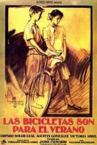 Caratula, cartel, poster o portada de Las bicicletas son para el verano