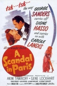 Caratula, cartel, poster o portada de Escándalo en París