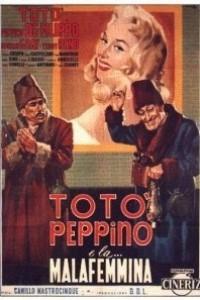 Caratula, cartel, poster o portada de Totò, Peppino y la mala mujer
