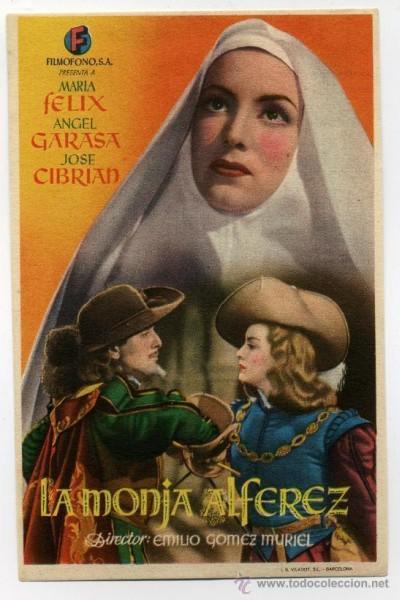 Caratula, cartel, poster o portada de La monja alférez