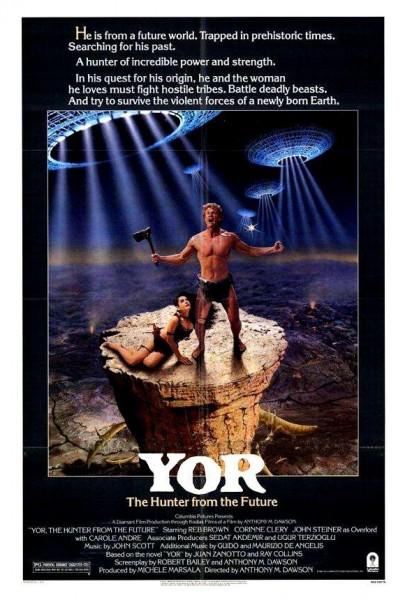 Caratula, cartel, poster o portada de Yor, el cazador que vino del futuro