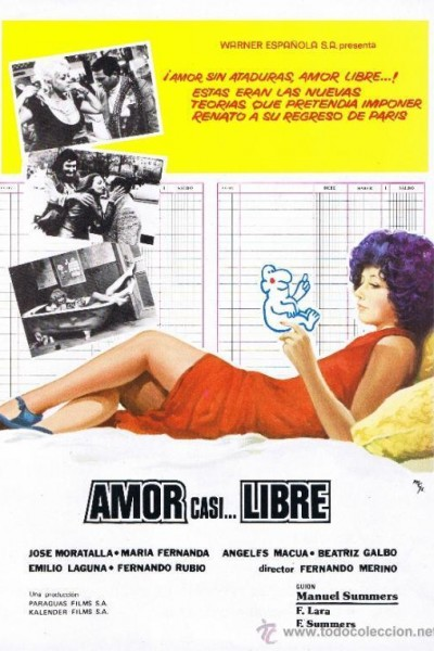 Caratula, cartel, poster o portada de Amor casi... libre