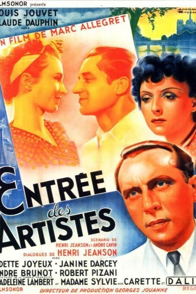 Caratula, cartel, poster o portada de Entrada de artistas