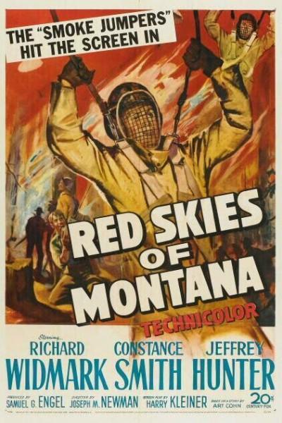 Caratula, cartel, poster o portada de Cielo rojo de Montana