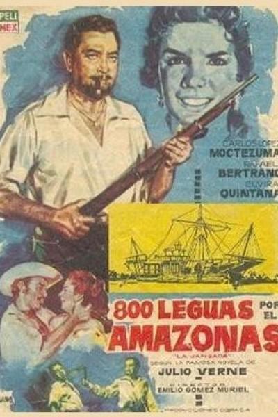 Caratula, cartel, poster o portada de 800 leguas por el Amazonas (La jangada)
