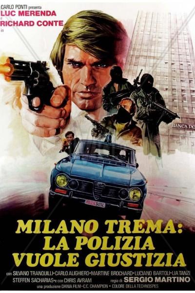 Caratula, cartel, poster o portada de Milán tiembla, la policía pide justicia