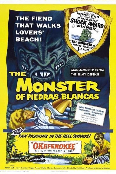 Caratula, cartel, poster o portada de El monstruo de Piedras Blancas