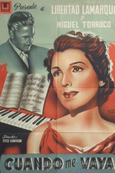 Caratula, cartel, poster o portada de Cuando me vaya