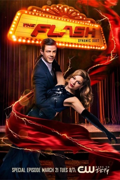 Caratula, cartel, poster o portada de The Flash & Supergirl: Dynamic Duet