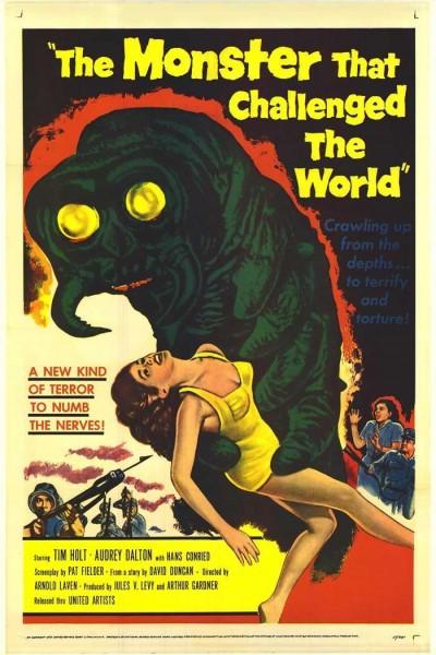 Caratula, cartel, poster o portada de El monstruo que desafió al mundo