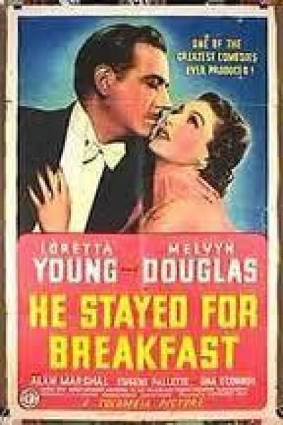 Caratula, cartel, poster o portada de He Stayed for Breakfast