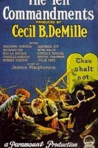 Caratula, cartel, poster o portada de Los diez mandamientos