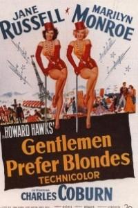 Caratula, cartel, poster o portada de Los caballeros las prefieren rubias