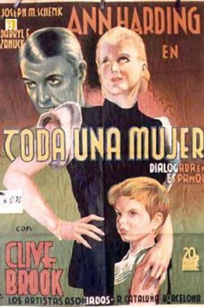 Caratula, cartel, poster o portada de Toda una mujer