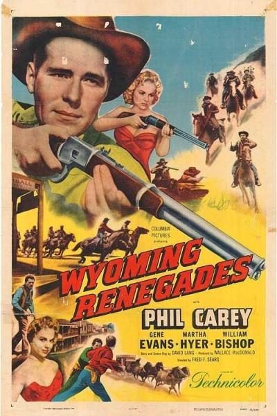 Caratula, cartel, poster o portada de Los renegados de Wyoming