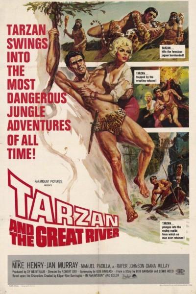 Caratula, cartel, poster o portada de Tarzán en el Amazonas