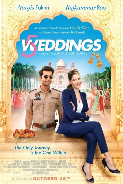 Caratula, cartel, poster o portada de 5 Weddings
