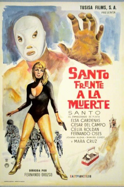 Caratula, cartel, poster o portada de Santo frente a la muerte