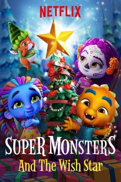 Caratula, cartel, poster o portada de Los supermonstruos y la estrella de los deseos