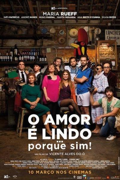 Caratula, cartel, poster o portada de O Amor é Lindo ... Porque Sim!