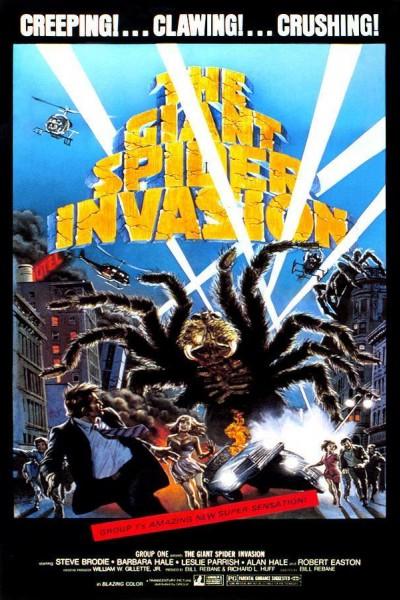 Caratula, cartel, poster o portada de La invasión de las arañas gigantes