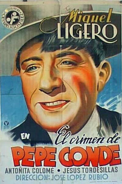 Caratula, cartel, poster o portada de El crimen de Pepe Conde