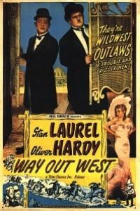 Caratula, cartel, poster o portada de Laurel y Hardy en el Oeste