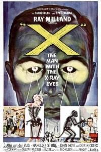 Caratula, cartel, poster o portada de El hombre con rayos X en los ojos