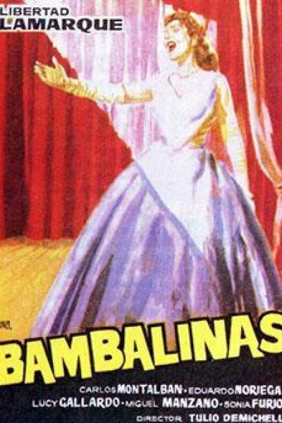 Caratula, cartel, poster o portada de Bambalinas