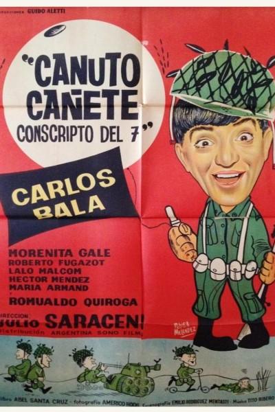 Caratula, cartel, poster o portada de Canuto Cañete, conscripto del 7