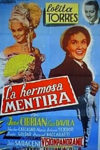 Caratula, cartel, poster o portada de La hermosa mentira