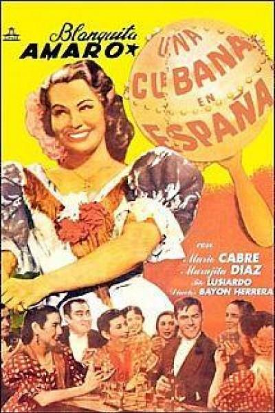 Caratula, cartel, poster o portada de Una cubana en España