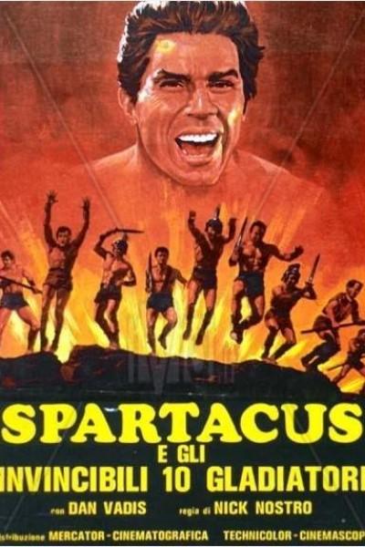 Caratula, cartel, poster o portada de Espartaco y los diez gladiadores