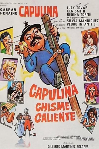 Caratula, cartel, poster o portada de Capulina chisme caliente