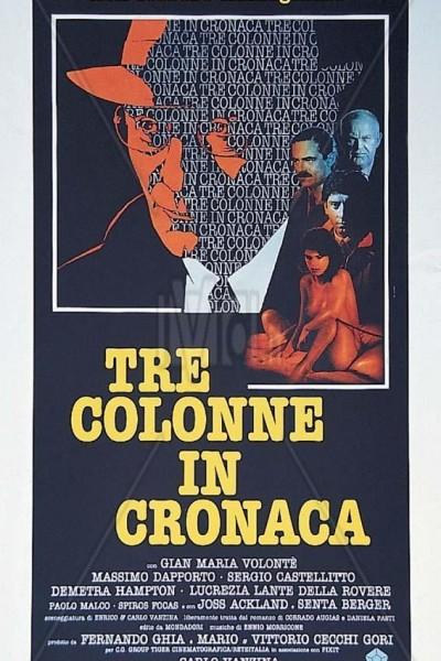 Caratula, cartel, poster o portada de Tre colonne in cronaca