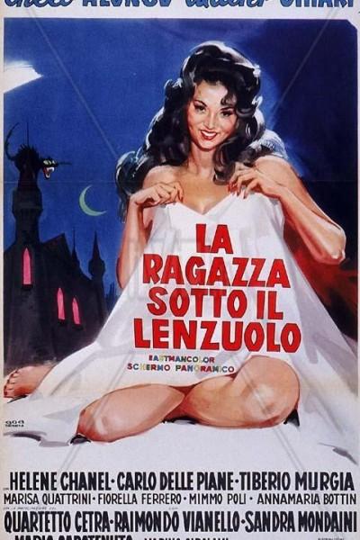 Caratula, cartel, poster o portada de La ragazza sotto il lenzuolo