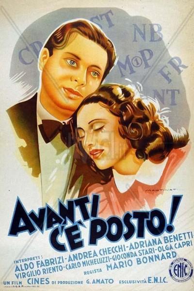 Caratula, cartel, poster o portada de Avanti c\'è posto...