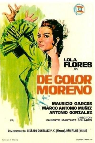 Caratula, cartel, poster o portada de De color moreno