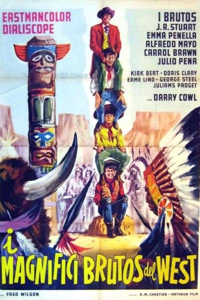 Caratula, cartel, poster o portada de Los brutos en el Oeste