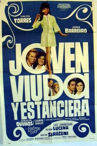 Caratula, cartel, poster o portada de Joven, viuda y estanciera
